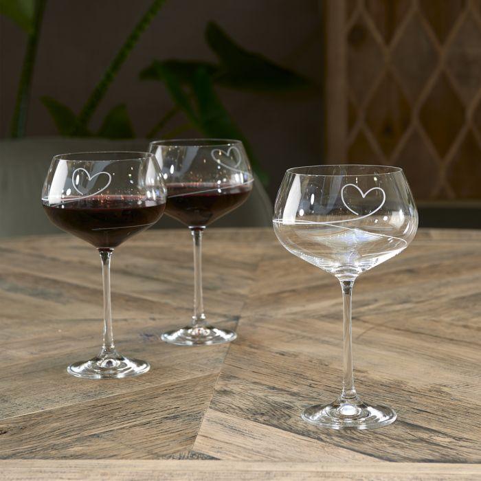 With Love Wijnglas